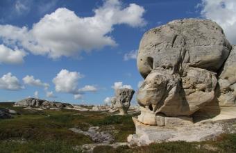 Леонид Скальский. Верхний Скальный город на р.Белой (скалы морозного выветривания, Северный Тиман)