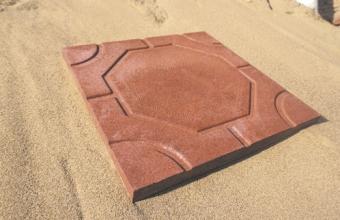 Тротуарная плитка «Modern Бордо» 330Х330Х30 мм