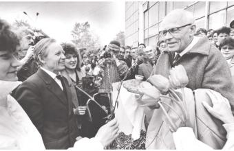 Сергей Сухоруков. Приезд академика А.Д.Сахарова в Сыктывкар. Май 1989 г.