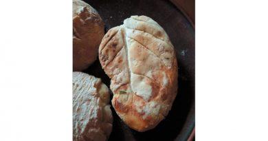 Хлеб на «сковороде»  из капустных листьев